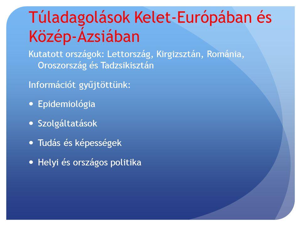 Epidemiológia Az elérhető adatok hiányosak, megbízhatatlanok és alulbecslik a valóságot, mert:  Adatgyűjtési hiányosságok miatt  A toxikológiai adatok korlátozott hozzáférhetősége  Stigma  A rendőri beavatkozástól való félelem Az Oroszországban és Lettországban a droghasználók körében készített vizsgálatok fontos információkat adtak