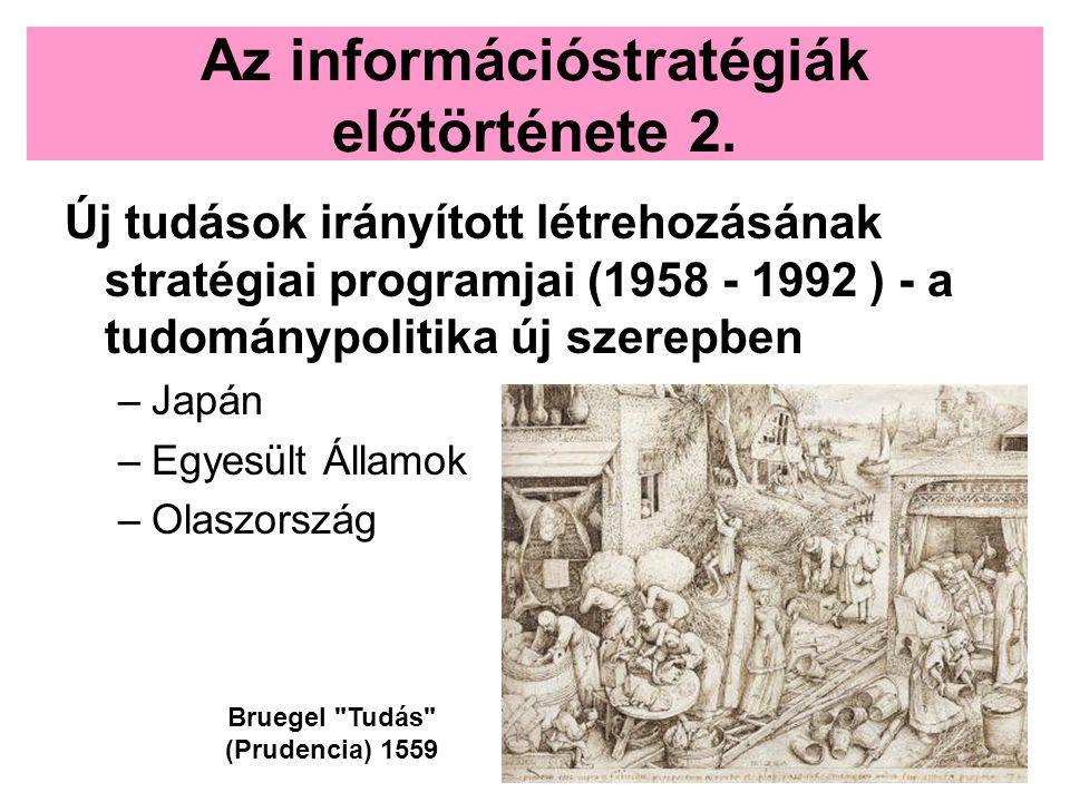 Az információstratégiák előtörténete 2.