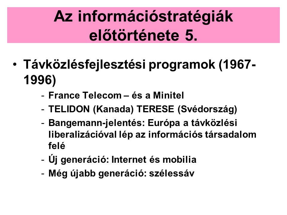 Az információstratégiák előtörténete 5.