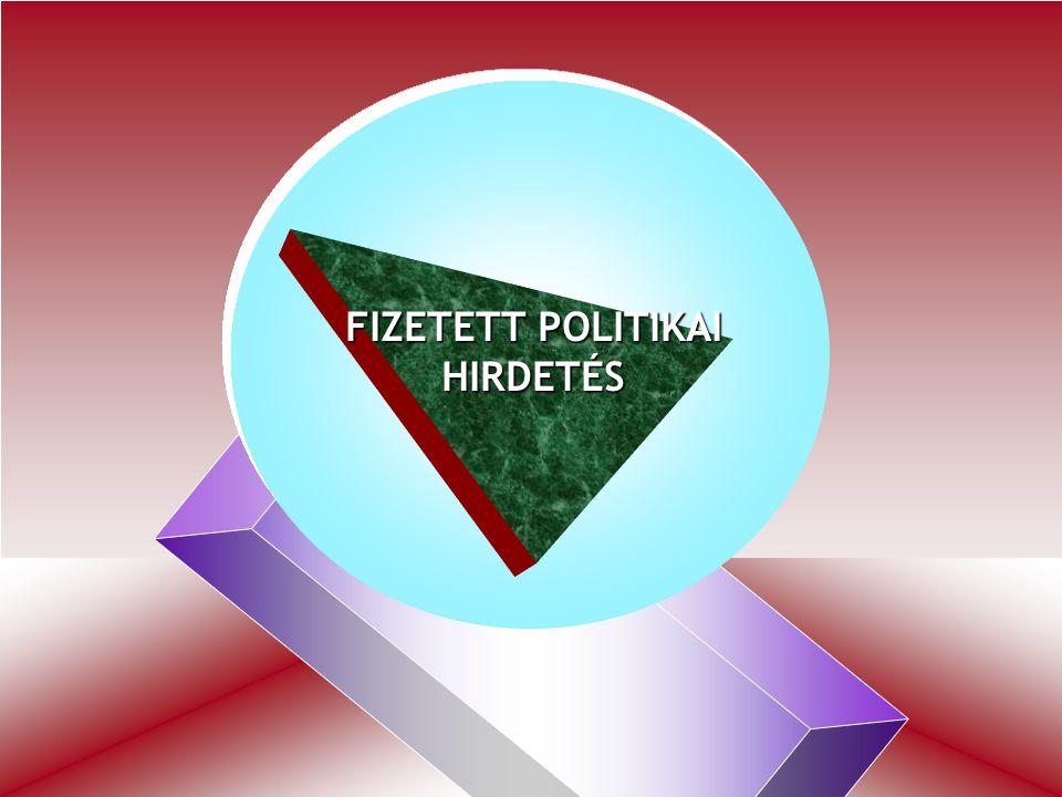 47 =======TV MŰSOR======== FIZETETT POLITIKAI HIRDETÉS