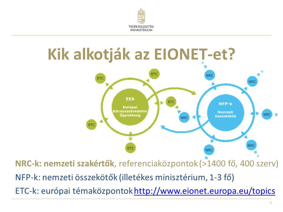4 Kik alkotják az EIONET-et.