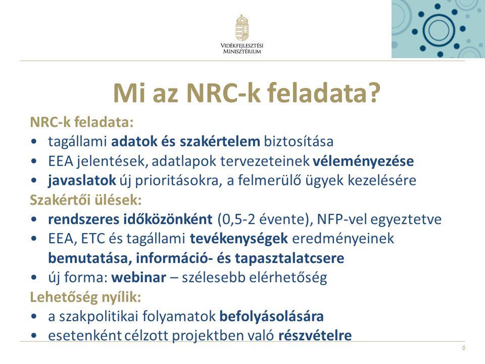 6 Mi az NRC-k feladata.