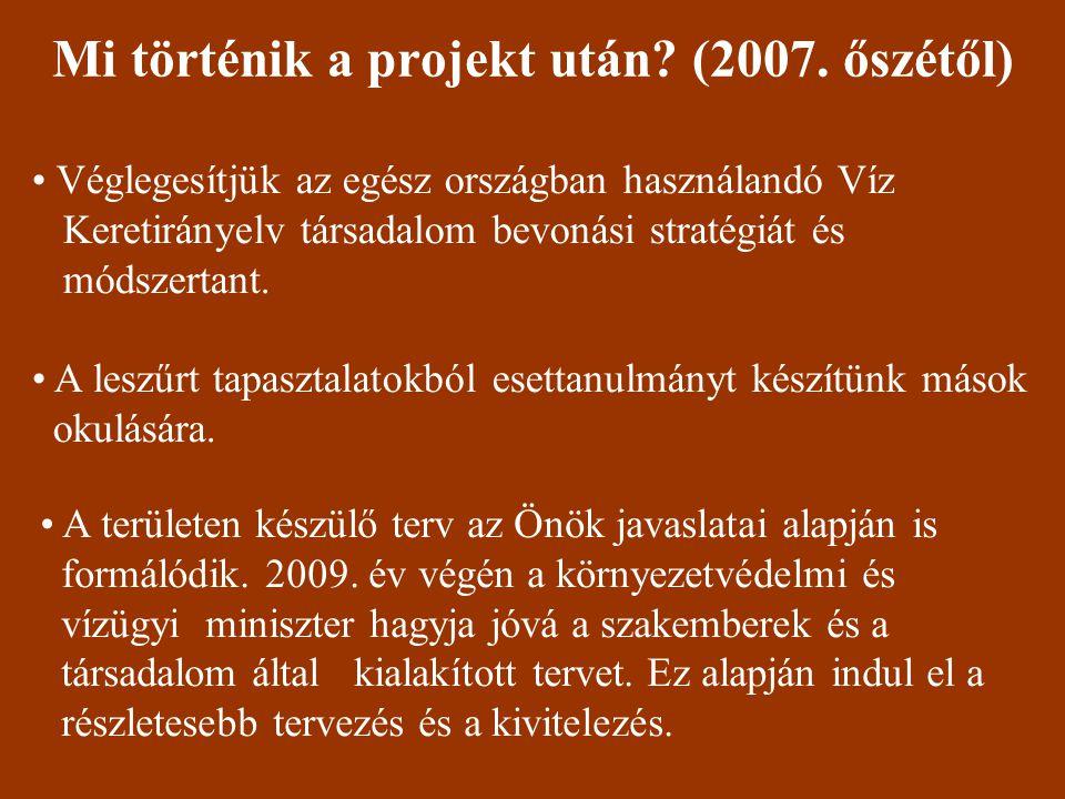 Mi történik a projekt után. (2007.