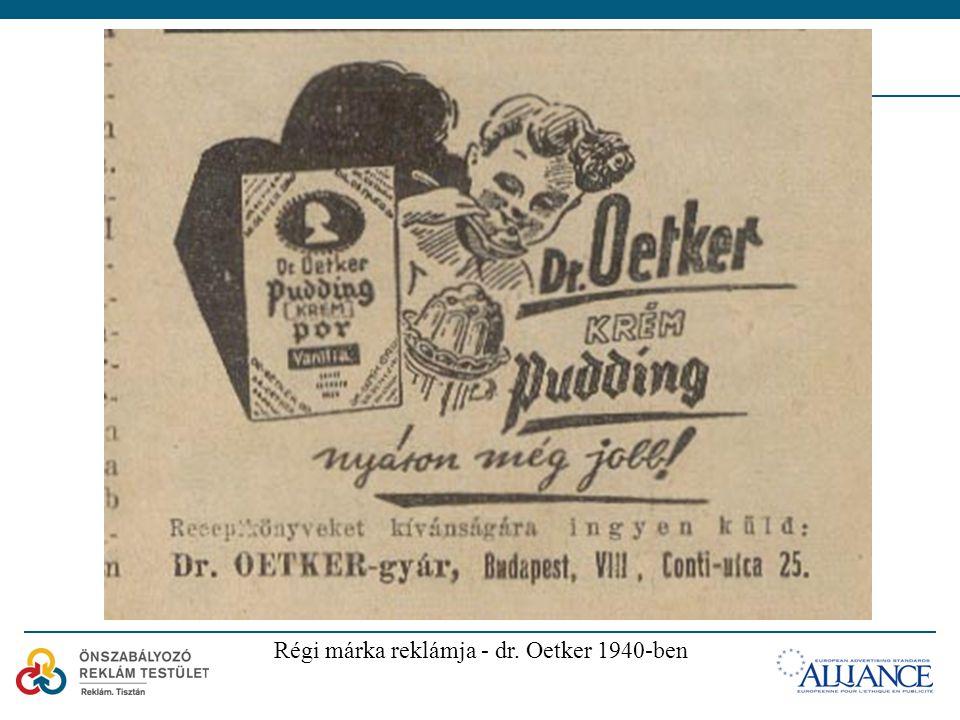 Régi márka reklámja - dr. Oetker 1940-ben