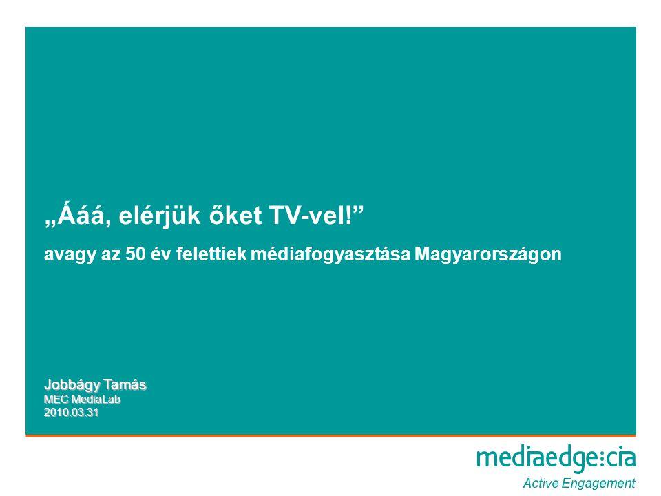 TV-nézéssel töltött percek száma (ATV) Forrás: AGB – Advantedge, Időszak: 2009, 2010.