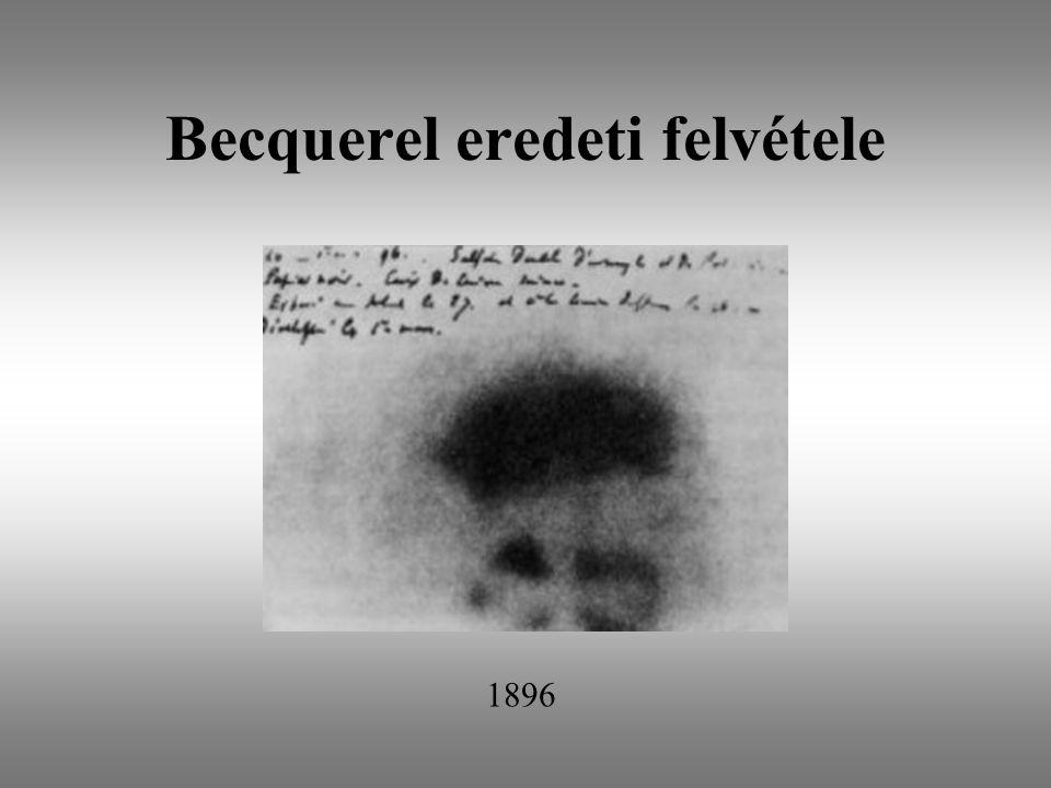 Becquerel eredeti felvétele 1896