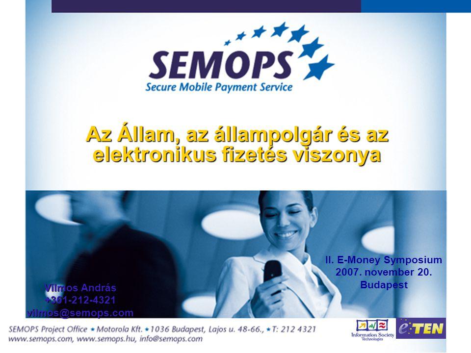Az Állam, az állampolgár és az elektronikus fizetés viszonya II.