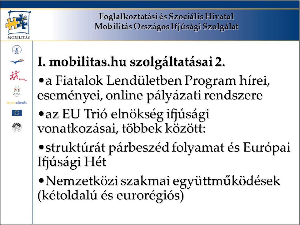 Foglalkoztatási és Szociális Hivatal Mobilitás Országos Ifjúsági Szolgálat I.