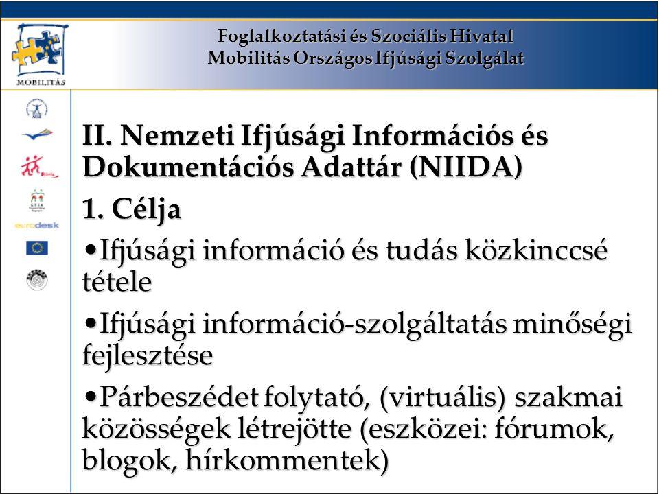 Foglalkoztatási és Szociális Hivatal Mobilitás Országos Ifjúsági Szolgálat II.