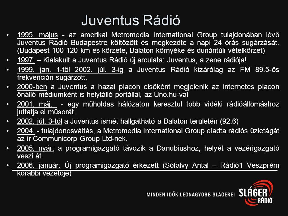 Radio 1 •1996-tól francia támogatással (La Gardere csoport) indult el •Kerepesi úti székházukban kezdték meg működésüket, Márton Dávid ügyvezető vezén