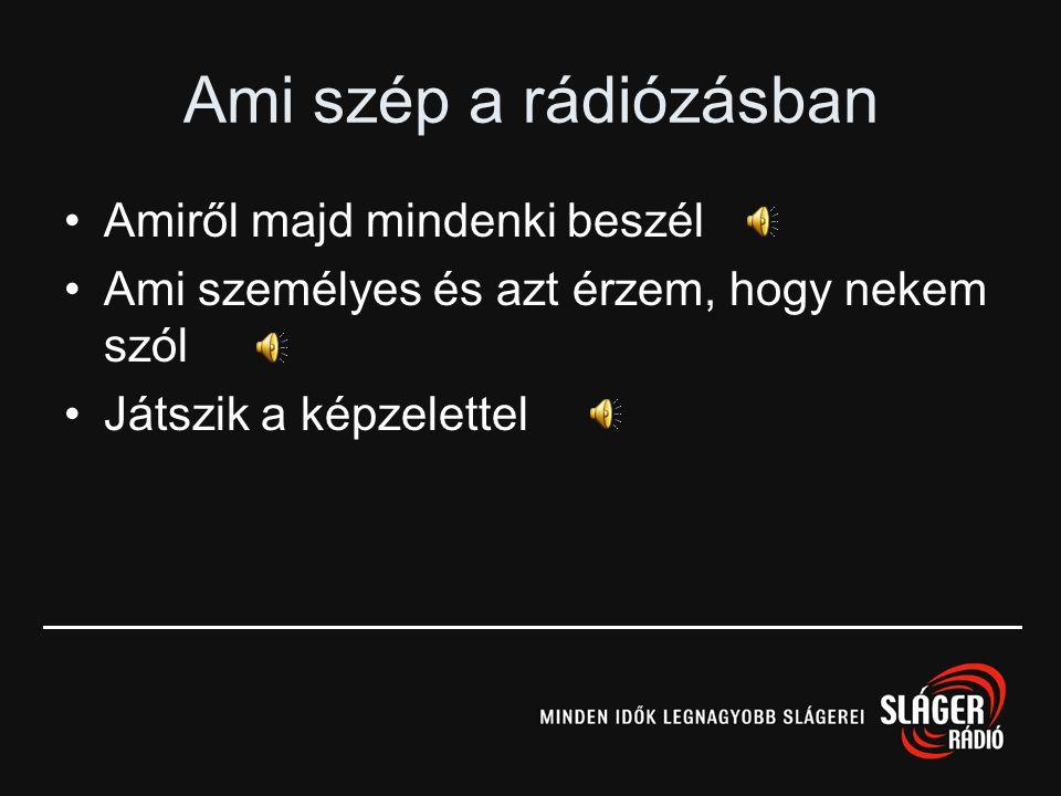 A rádiózás jövője •Mihez kell a rádió? •Mit ajánl a rádió? •Hol és kitől kapom meg? •ATS, Share, Reach •Alternatív technológiák –Podcasting –HD Radio,