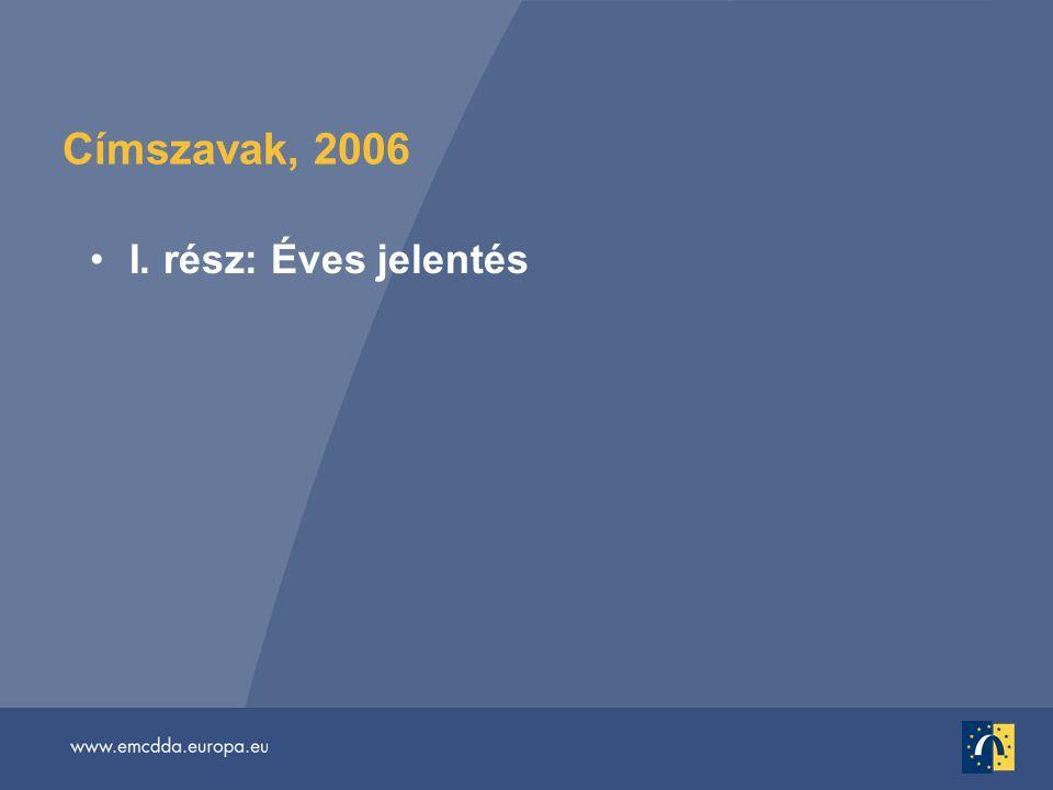Címszavak, 2006 •I. rész: Éves jelentés