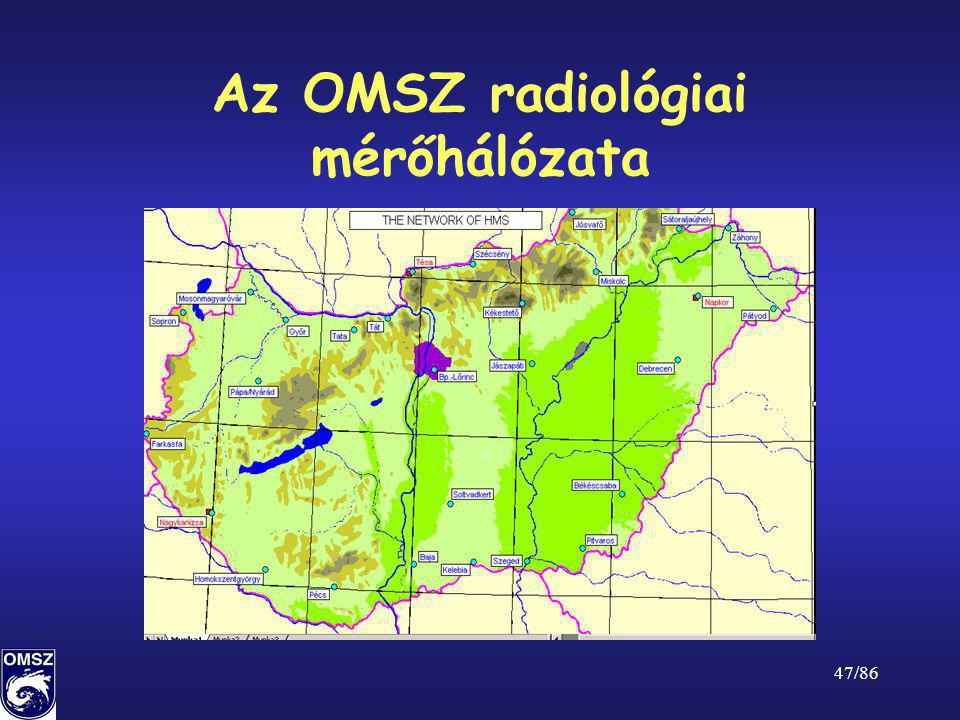 47/86 Az OMSZ radiológiai mérőhálózata