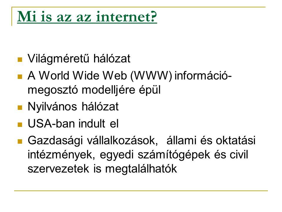 Mi is az az internet.