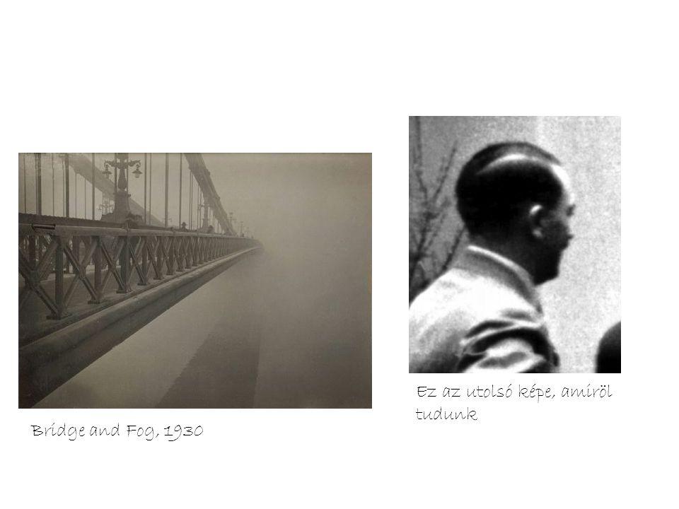 Bridge and Fog, 1930 Ez az utolsó képe, amiröl tudunk