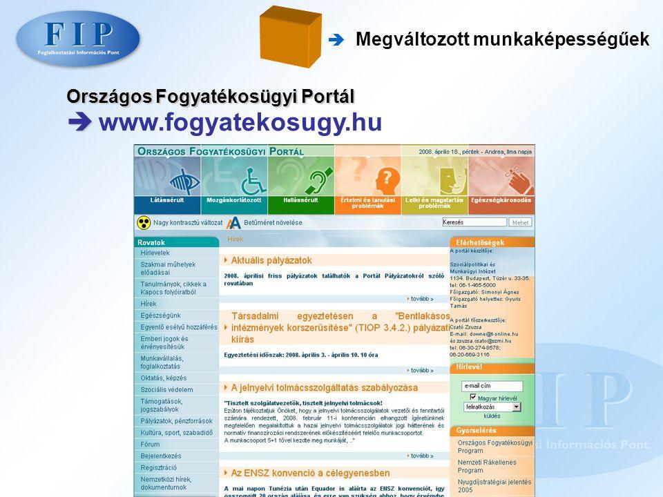 Országos Fogyatékosügyi Portál   www.fogyatekosugy.hu