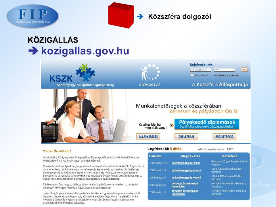 KÖZIGÁLLÁS   kozigallas.gov.hu