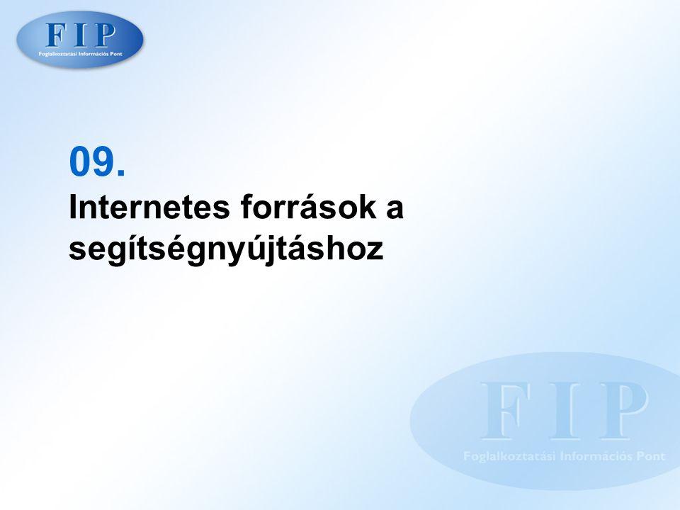 09. Internetes források a segítségnyújtáshoz