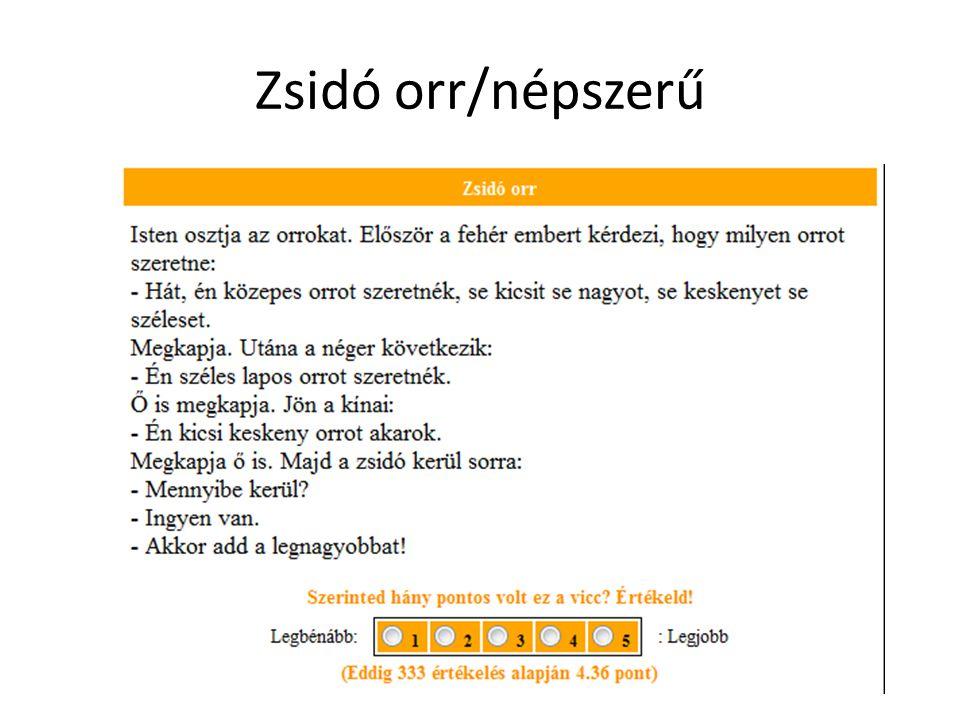 Zsidó orr/népszerű