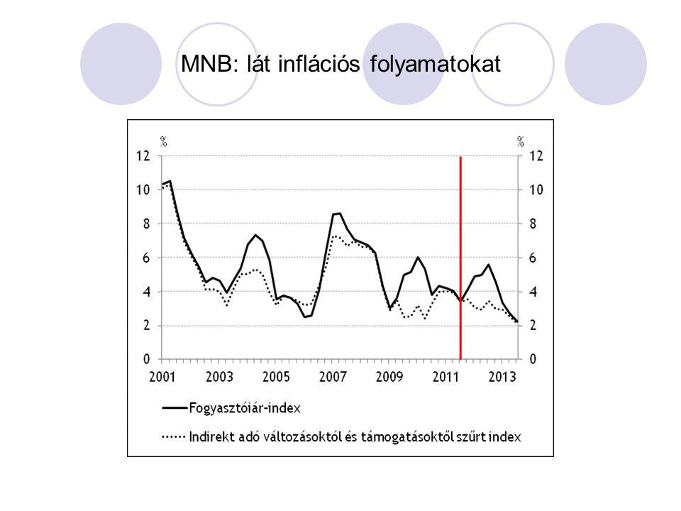 MNB: lát inflációs folyamatokat