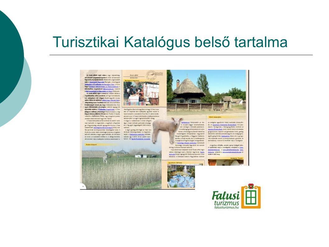 Turisztikai Katalógus belső tartalma