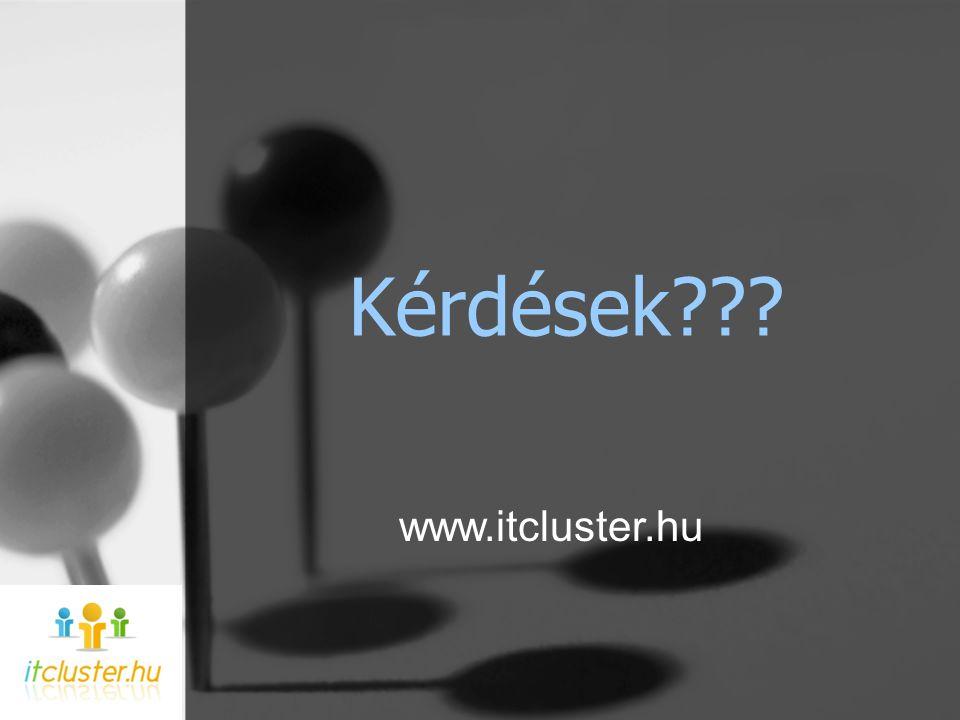 Kérdések??? www.itcluster.hu