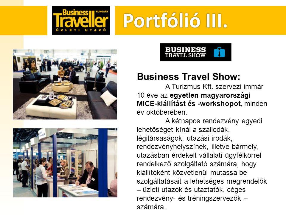 Portfólió III. Portfólió III. Business Travel Show: A Turizmus Kft.