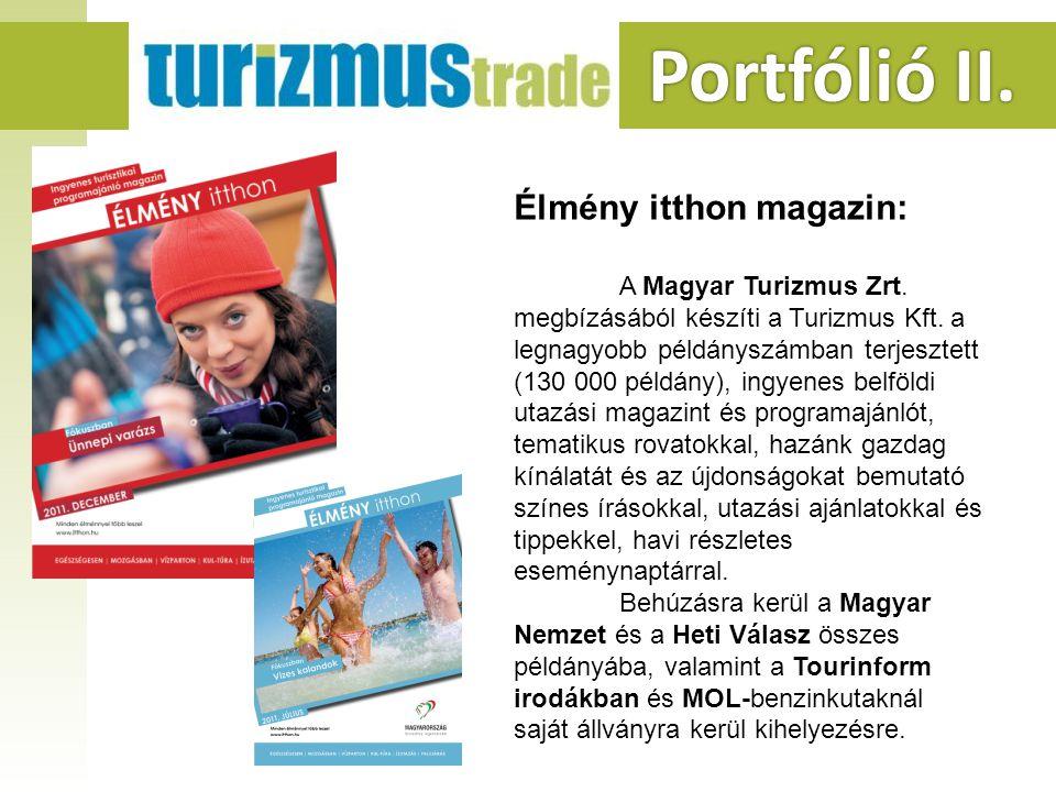 Portfólió II. Portfólió II. Élmény itthon magazin: A Magyar Turizmus Zrt.