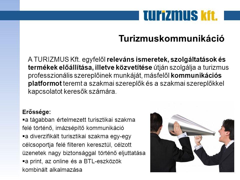 Turizmuskommunikáció A TURIZMUS Kft.