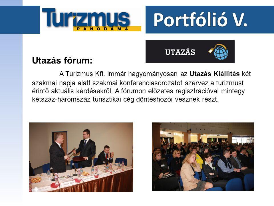 Portfólió V. Portfólió V. Utazás fórum: A Turizmus Kft.