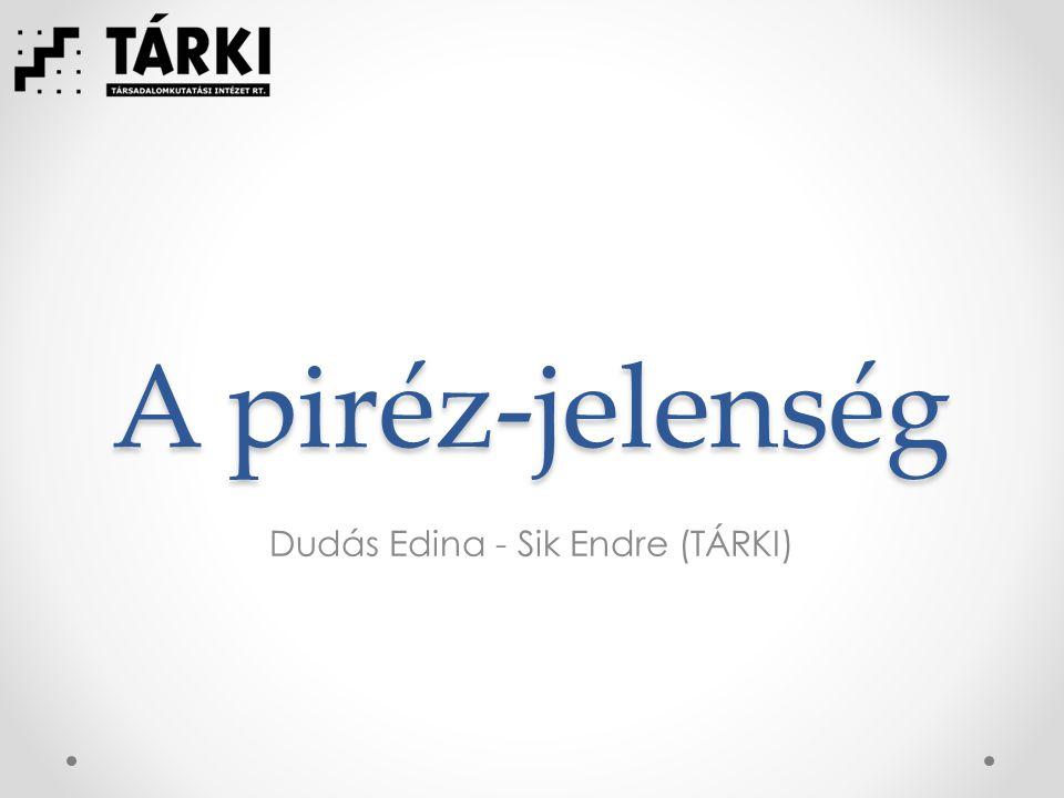 A piréz-jelenség Dudás Edina - Sik Endre (TÁRKI)