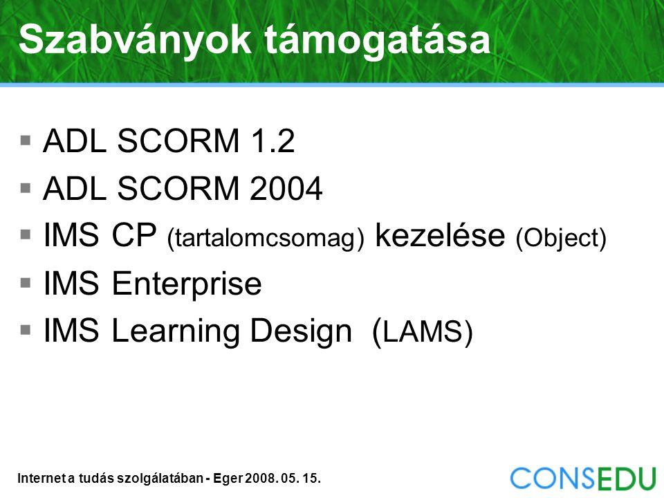 Internet a tudás szolgálatában - Eger 2008. 05. 15. Beállítások