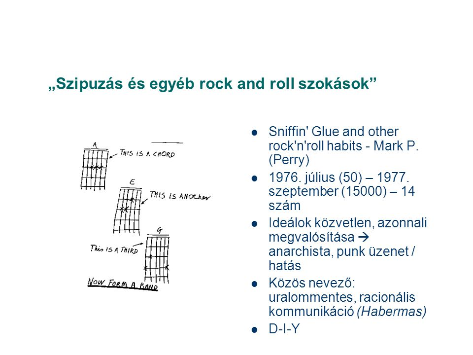 """Szipuzás és egyéb rock and roll szokások  Sniffin Glue and other rock n roll habits - Mark P."