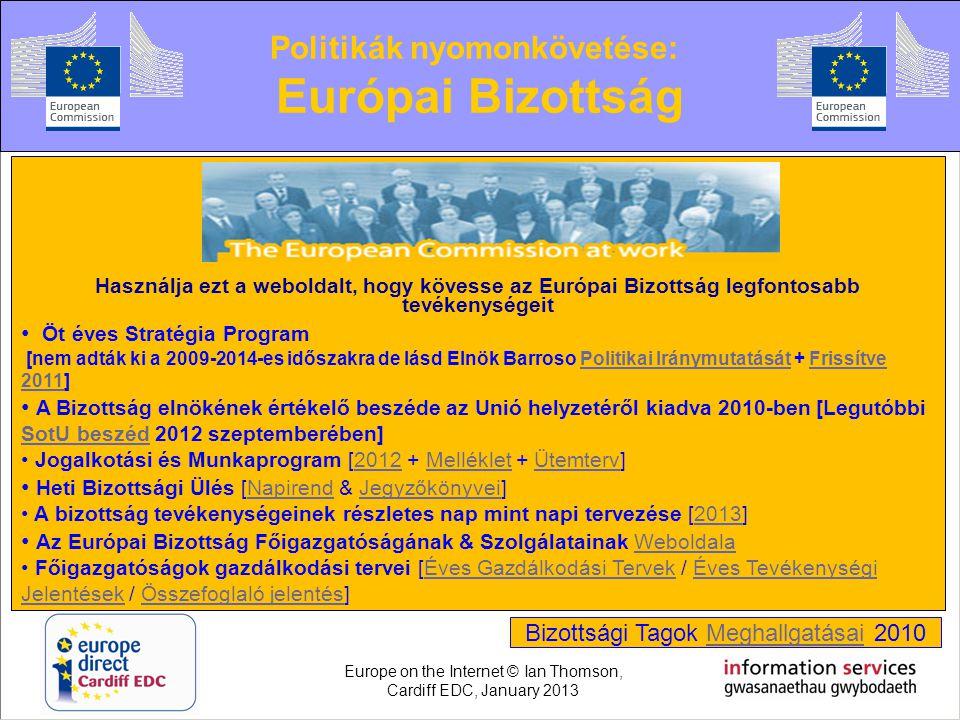 Politikák nyomonkövetése: Európai Bizottság Használja ezt a weboldalt, hogy kövesse az Európai Bizottság legfontosabb tevékenységeit • Öt éves Stratég