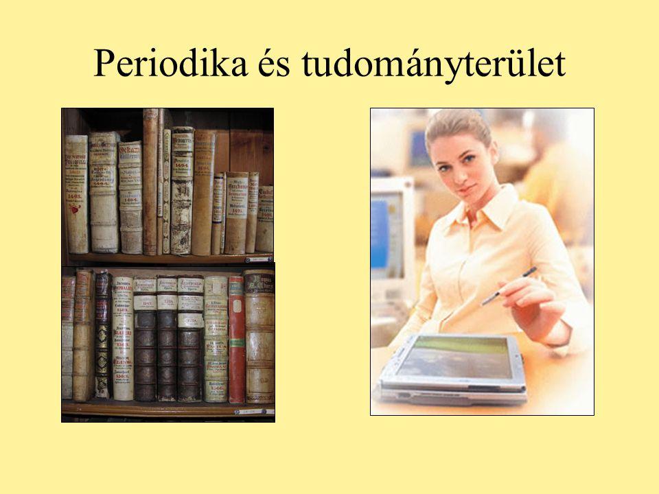 Periodika és tudományterület