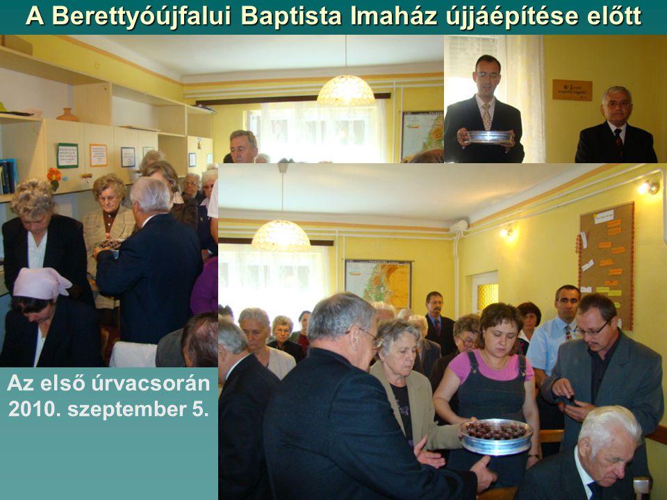 A Berettyóújfalui Baptista Imaház újjáépítése előtt Felajánlás a református gyülekezettől