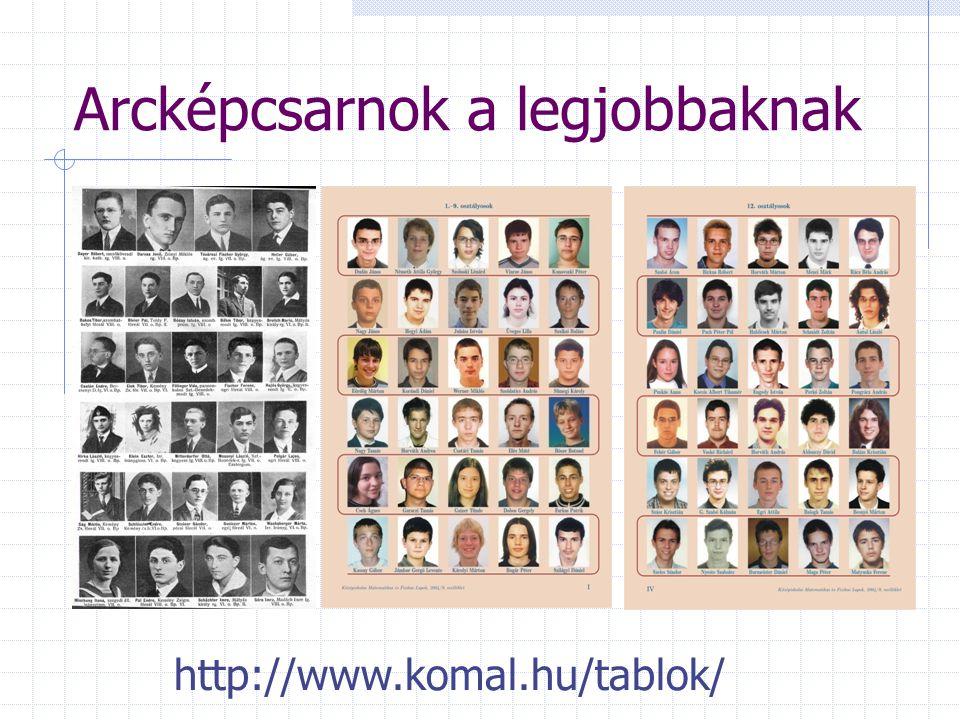 http://www.komal.hu/tablok/ Arcképcsarnok a legjobbaknak