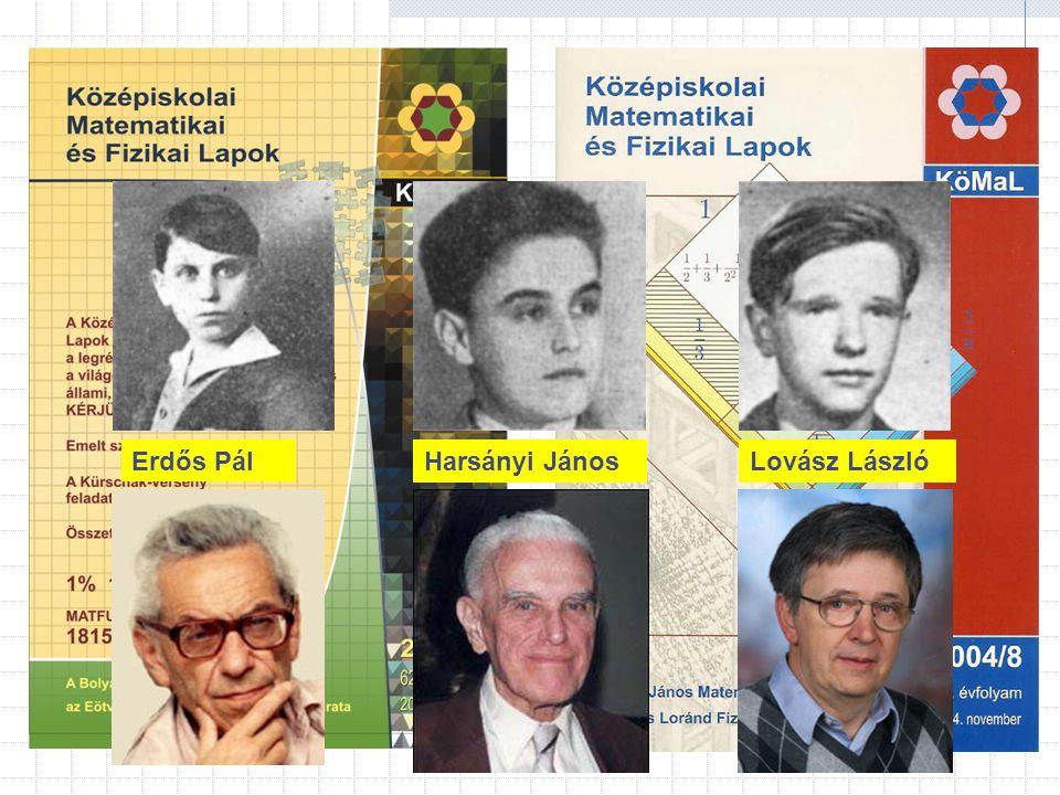 Harsányi JánosErdős PálLovász László
