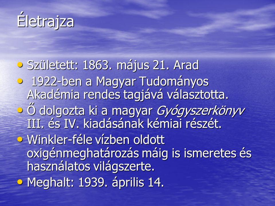 Életrajza • Született: 1863.május 21.