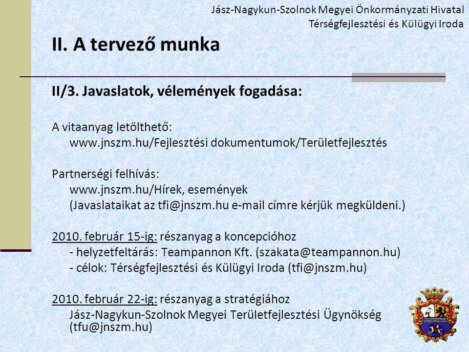 II. A tervező munka II/3.