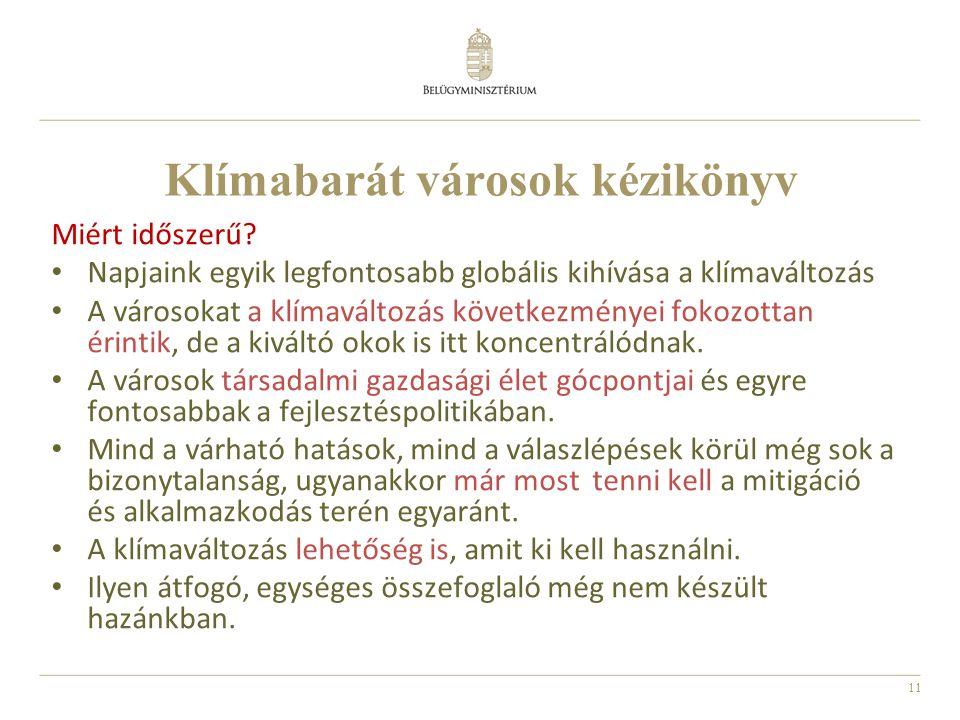 11 Klímabarát városok kézikönyv Miért időszerű.