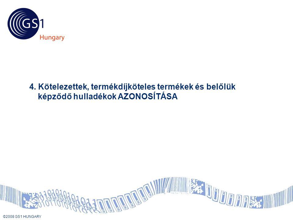 © 2008 GS1 US ©2008 GS1 HUNGARY Tartalom 4.
