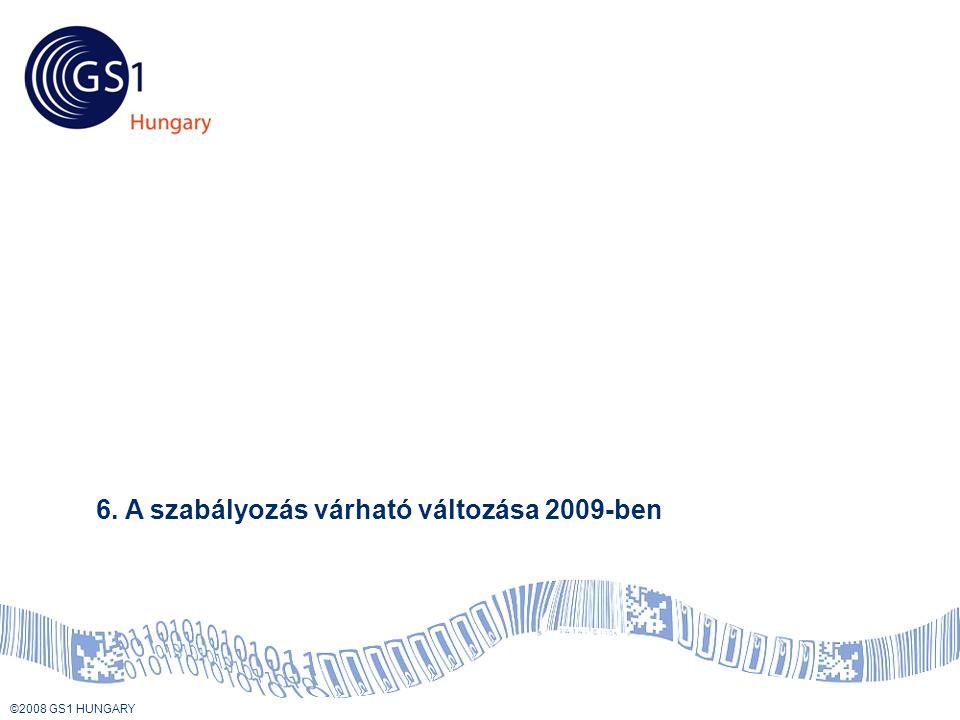 © 2008 GS1 US ©2008 GS1 HUNGARY Tartalom 6. A szabályozás várható változása 2009-ben