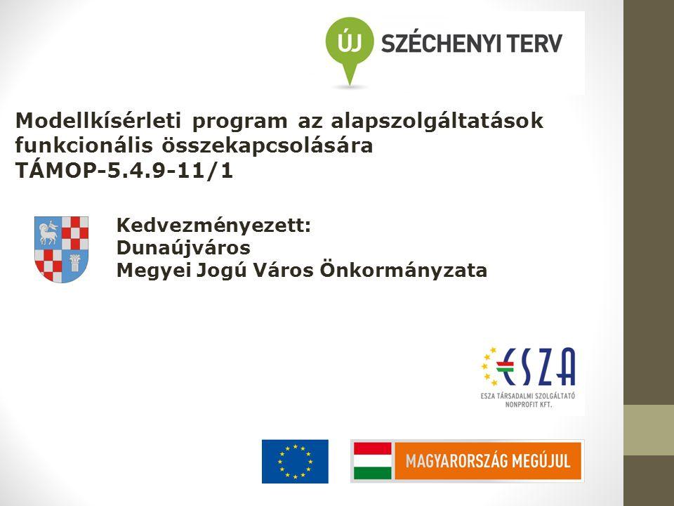 Modellkísérleti program az alapszolgáltatások funkcionális összekapcsolására TÁMOP-5.4.9-11/1 Kedvezményezett: Dunaújváros Megyei Jogú Város Önkormány