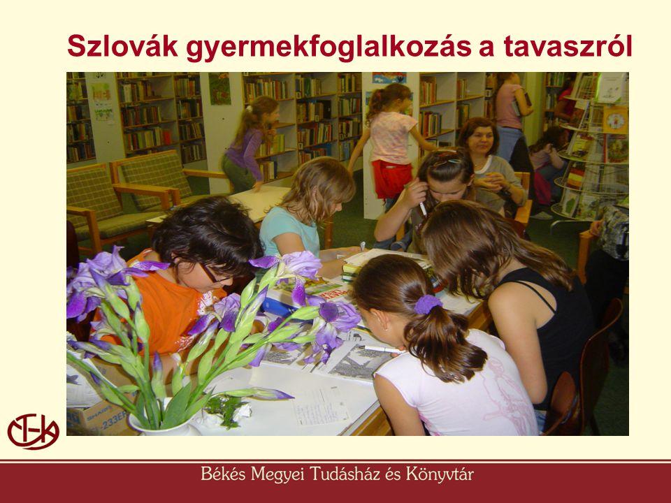 Szlovák gyermekfoglalkozás a tavaszról
