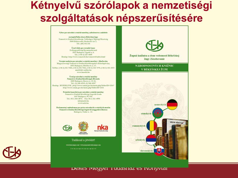 Kétnyelvű szórólapok a nemzetiségi szolgáltatások népszerűsítésére