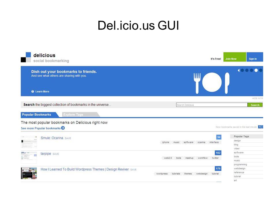 Del.icio.us GUI
