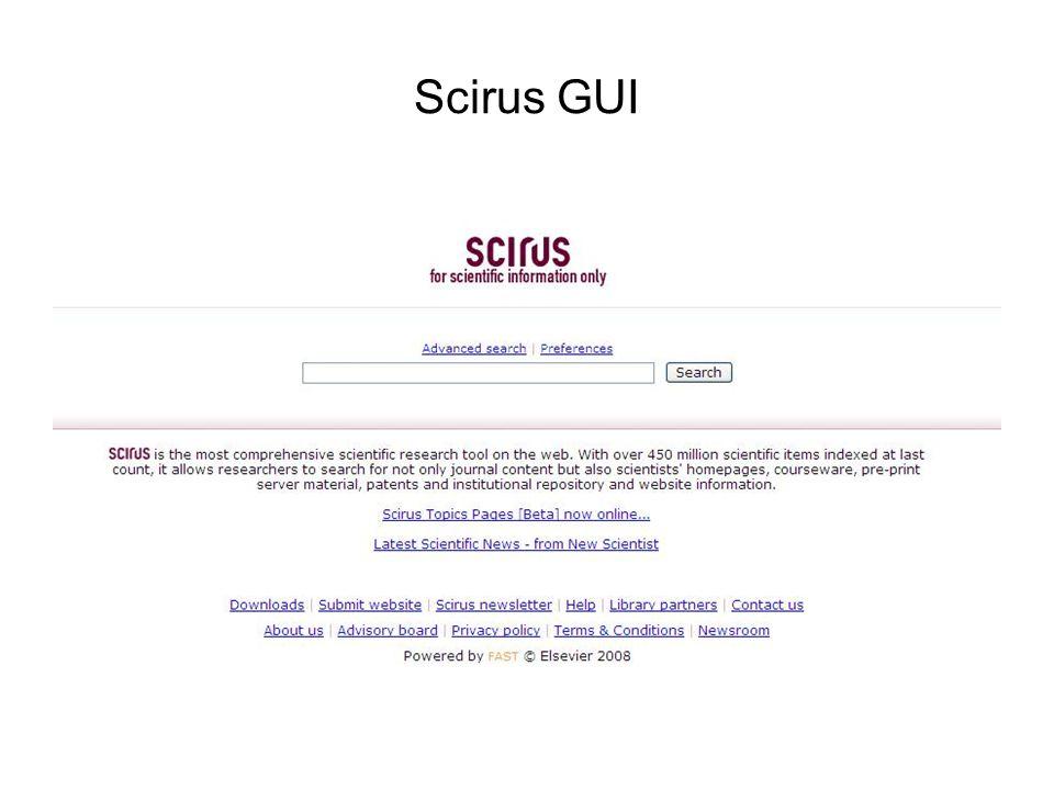 Scirus GUI