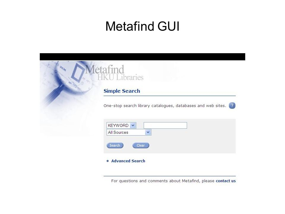 Metafind GUI