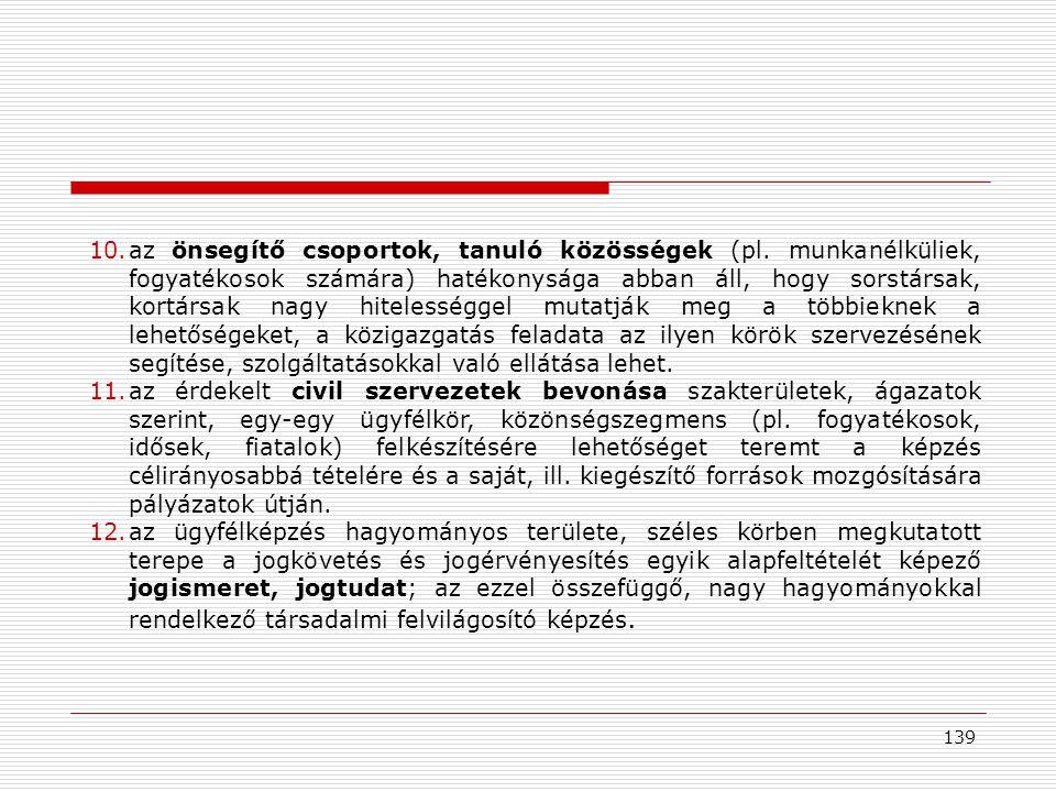 139 10.az önsegítő csoportok, tanuló közösségek (pl.